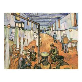 Dormitory in the Hospital in Arles by van Gogh Postcard