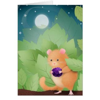 Dormouse Dinner - greeting card