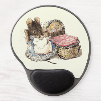 Dormouse Mother and Child Gel Mouse Pad