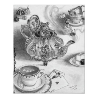 Dormouse Poster Alice in Wonderland Poster