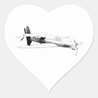 Dornier 335 airplane heart stickers