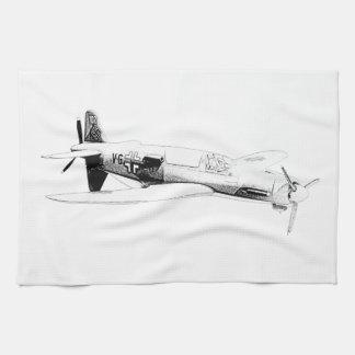 Dornier 335 airplane kitchen towels