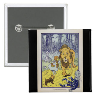 Dorothy and the Cowardly Lion from Wizard of Oz 15 Cm Square Badge