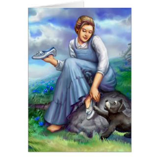 Dorothy and the Silver Shoes Note Card