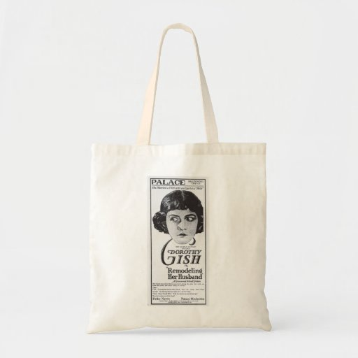 Dorothy Gish 1920 vintage movie advertisement Canvas Bags