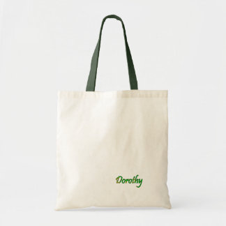 Dorothy Green and White Tote Bag