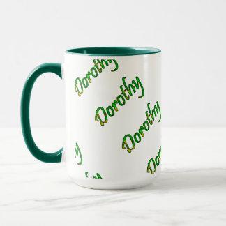 Dorothy Green Style 15 oz Ringer Mug