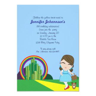 "Dorothy of Oz BIRTHDAY PARTY custom invitation 5"" X 7"" Invitation Card"