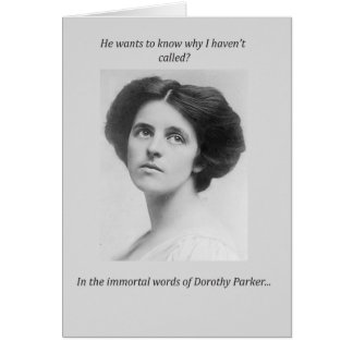 Dorothy Parker Quote Card