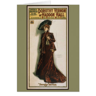 Dorothy Vernon Theater Poster On Cards