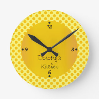 Dorothy's Kitchen Personalized Numbers Wall Clocks