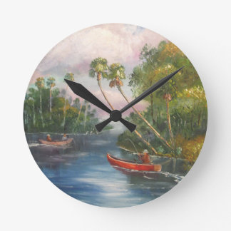 Dorsal Fishing Post - Fish Camp St. Lucie River Wallclock