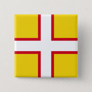 Dorset, United Kingdom flag 15 Cm Square Badge