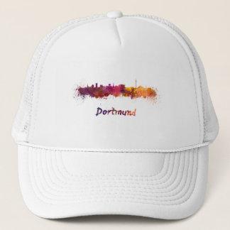 Dortmund skyline in watercolor trucker hat