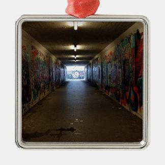 Dortmund underground graffiti at the station metal ornament