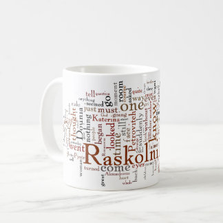 Dostoevsky Crime and Punishment Words Coffee Mug