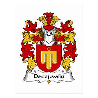 Dostojewski Family Crest Postcard