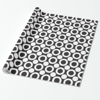 Dot 3 Black and White Wrapping Paper