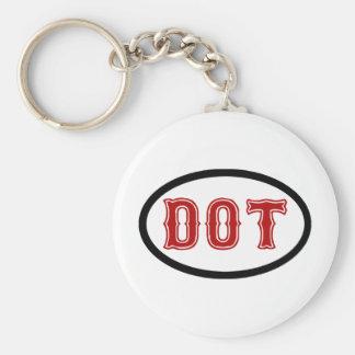 DOT City Basic Round Button Key Ring