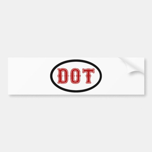 DOT City Bumper Stickers