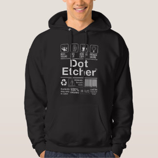 Dot Etcher Hooded Pullovers