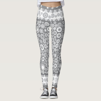 dot gray legging