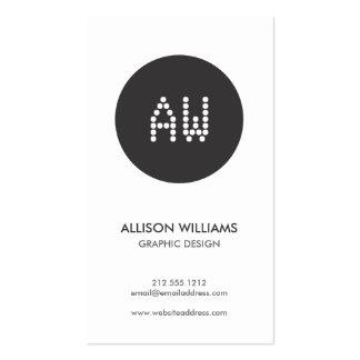 DOT INITIALS LOGO B&W Designer Business Card