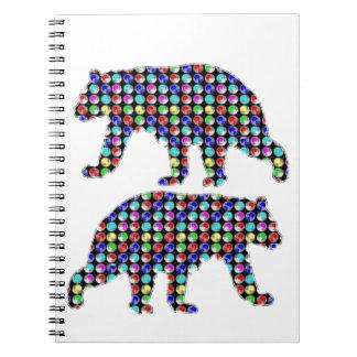 DOT painted BEAR animal wild navinJOSHI NVN107 FUN Note Books