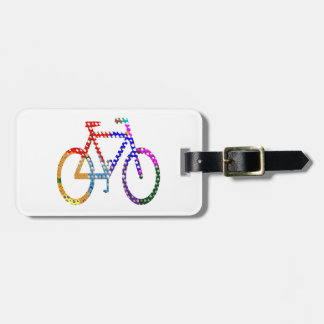 Dot Painted Cycle : Your Group Identity Luggage Tag