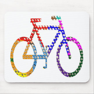 Dot Painted Cycle Your Group Identity Mouse Pads