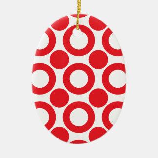 dot pattern 3 ceramic ornament