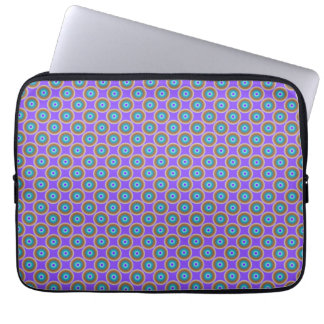 Dot Pattern - Blue Violet Purple Lavender Laptop Sleeve