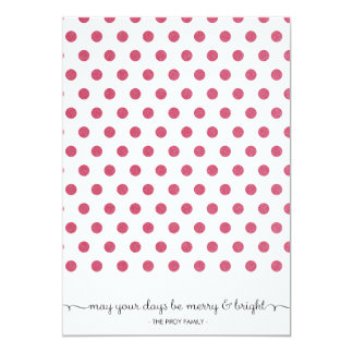 """Dot Red Pattern Holiday Card 5"""" X 7"""" Invitation Card"""