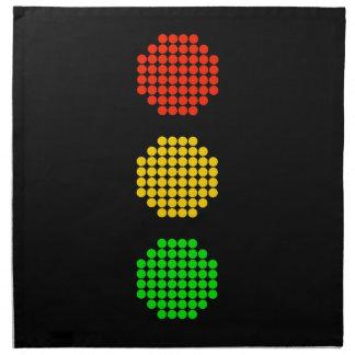 Dot Stoplight Colors Napkin