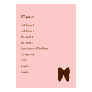Dots and Stripes Cake Business Card Templates