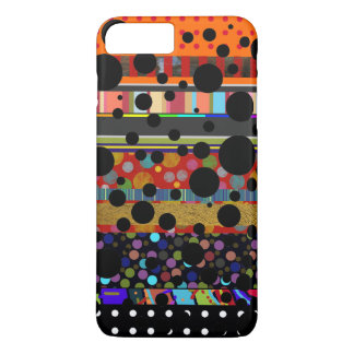 dots and stripes different patterned iPhone 7 plus case