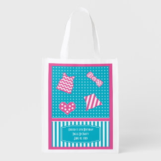 Dots and Stripes Dress Up Birthday turquoise pink