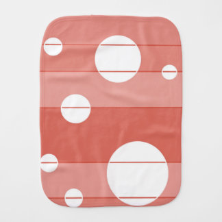 Dots and Stripes in BarnRed Burp Cloth