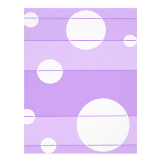 Dots and Stripes in FairytalePurple 21.5 Cm X 28 Cm Flyer