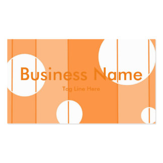 Dots and Stripes in Orange Pack Of Standard Business Cards