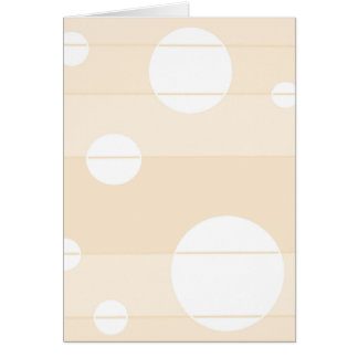 Dots and Stripes in Vanilla Greeting Card