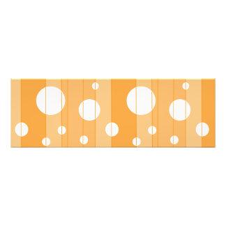 Dots and Stripes in YellowOrange Photo Art
