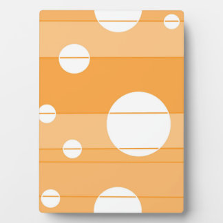 Dots and Stripes in YellowOrange Plaque