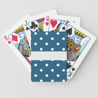 dots, blue and white, strip, elegant bicycle playing cards