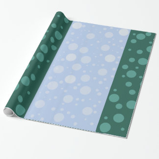 Dots Blue Green Glossy Wrapping Paper