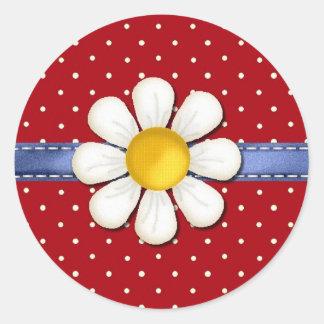 Dots, Daisies and Denim Envelope Seal