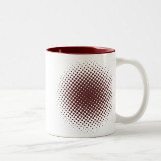 Dots Desgin Two-Tone Coffee Mug