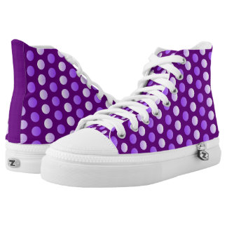 Dots, dots, dots, purple polka dots everywhere! printed shoes