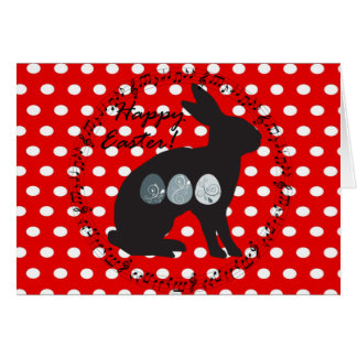 dots, elegant, red and white, funny card