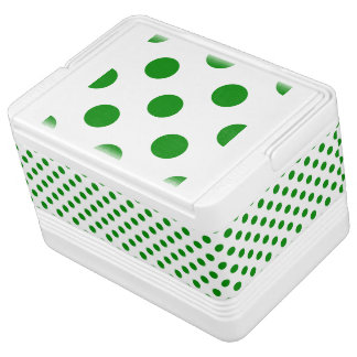 DOTS - GREEN GREEN (a polka dot design) ~ Cooler